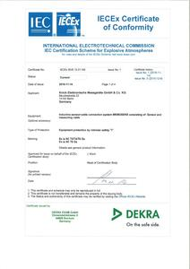 IECEx Certificate of Conformity - SE 546