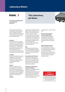 Laboratory Ph Meter 766 Knick