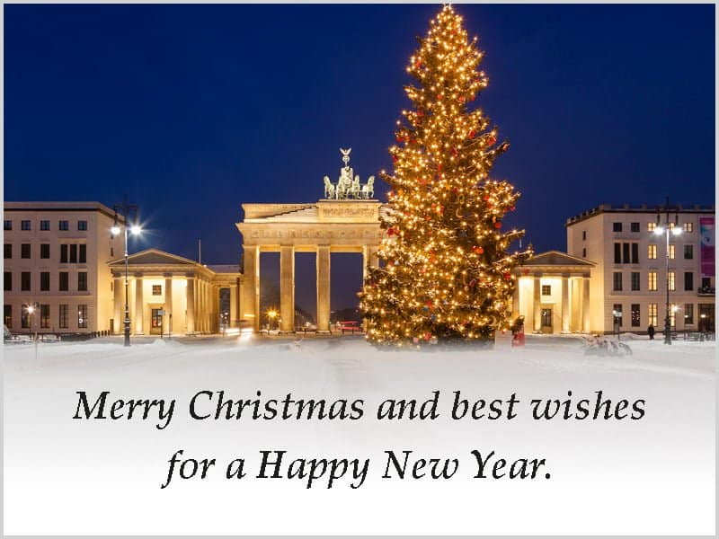 season's greetings Christmas Brandenburger Tor Berlin