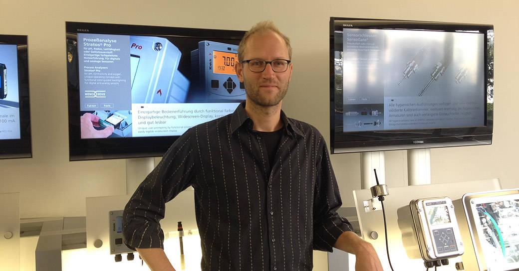 Florian Koppe, sales engineer at Knick